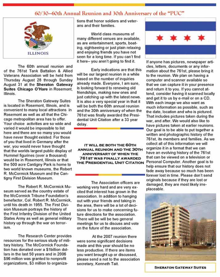 2008 Reunion Page from Newlsetter (Vol 3 #1, page 6) 2008 Reunion